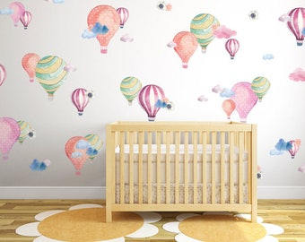 Vinyl Wall Decal- Hot Air Balloons