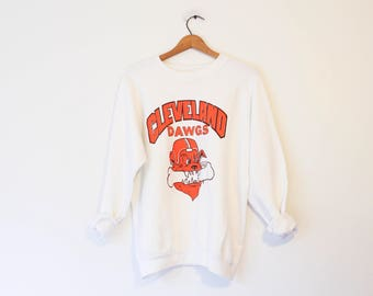 Vintage Cleveland Browns Dawgs Football Sweatshirt