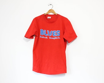 Vintage Red Blues Beale St Memphis Tennessee T Shirt