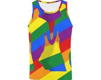 Love is Love! Mens Tank Top | Bright Rainbow Print Top | LGBTIQ Pride | Size XS S M L XL 2XL 3XL | Easy Fit | Unique Designer Fashion