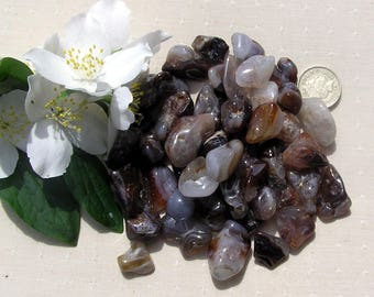 10 Fire Agate Crystal Tumblestones, Crystal Collection, Agate Crystals, Meditation Stone, Brown Crystals, Chakra Crystals, Gemini Crystals