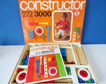 Heros Constructor Construction toy West German Vintage