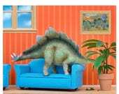 FALL SALE Stegosaurus dinosaur decor art print: Plant Eater