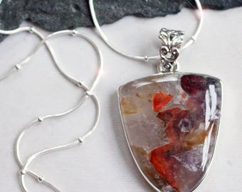 Auralite - Rare Auralite-23 Sterling Silver Necklace