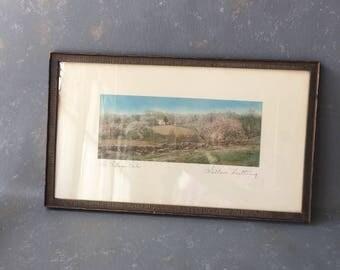 Vintage Wallace Nutting, Photo, Print, Village Dale,