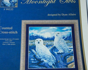 MOONLIGHT OWLS - Cross Stitch Pattern