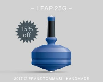 LEAP 25G Blue – Spin top with dual ceramic tip and rubber grip