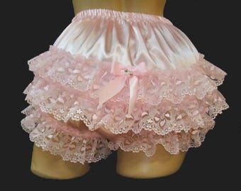 "Custom Made""Handmade Sissy Ruffle Panties Fetish Cosplay Lace Rumba"
