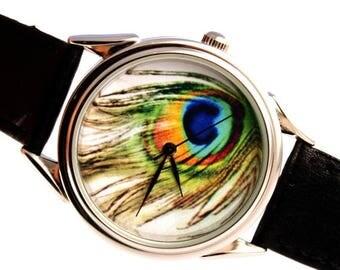 ON SALE 25% OFF Peacock Watch, peafowl watch, ladies watch, mens watch, womens watch,