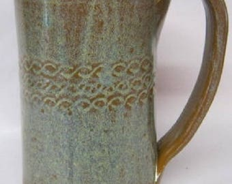Handmade pottery mug, Tall Glass, FREE SHIPPING, Coffee mug , and tea mug, Ceramic cup