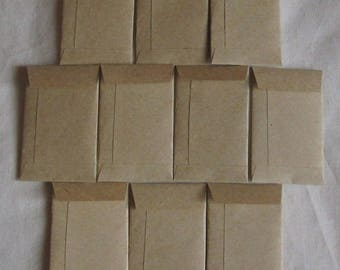 "50 Tiny Brown Coin Envelopes - Tiny Coin Seed Envelopes - Tiny Confetti Envelopes - Tiny Wedding Coin Envelopes - 2"" x 1 1/4"""