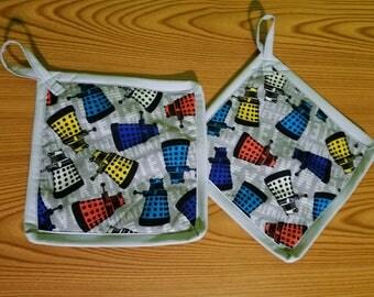 Daleks Set of 2 Potholders