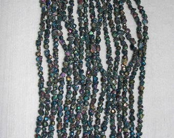 Pyrite, Titanium Pyrite, Pyrite Nugget, Pyrite Bead, Natural Stone, Multicolor Finish, Full Strand, 5mm, AdrianasBeads