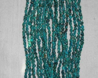 Turquoise, Natural Turquoise, Turquoise Pebbles, Turquoise Nugget, Blue Turquoise, Natural Stone, A+, Full Strand,  6-9 mm, AdrianasBeads
