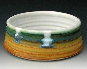 MEDIUM DOG BOWL #3 - Ceramic Dog Bowl - Ceramic Dog Dish - Stoneware Dog Bowl - Pottery Dog Bowl - Clay Dog Bowl - Dog Food Bowl - Pet Bowl
