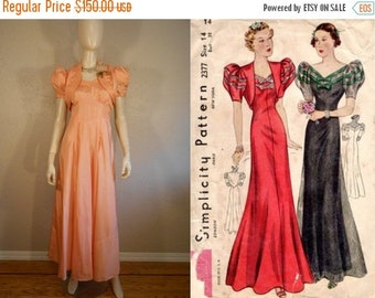 Anniversary Sale 35% Off Georgia Courtship Dance - Vintage 1930s Perfectly Peach Rayon Dress w/Bolero Jacket  - 2/4
