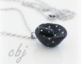 Molcajete Necklace, Molcajete Charm, Molcajete Polymer Clay Necklace, Molcajete Pendant, Molcajete, Salsa Charm