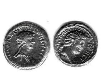 REPRODUCTION Roman Denarius Marc Antony and Cleopatra Free Domestic Shipping