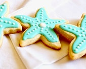 Starfish Cookies, Starfish Sugar Cookies, Decorated Cookies, Starfish, Homemade Baked Goods, Under the Sea Party, Beach Party