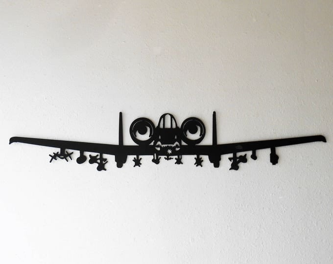 Large A-10 Thunderbolt II Warthog Hog Aircraft Military Metal Wall Decoration USAF