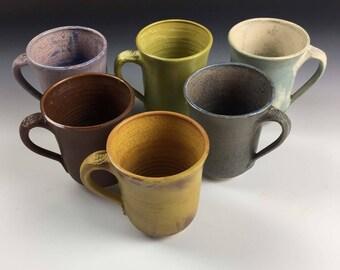 Ready to Ship, New Matte glazes, Mugs, by Leslie Freeman