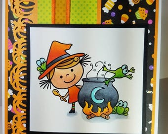 Handmade Greeting Card Witches Brew