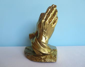 Vintage Praying Hands Sculpture - Philadelphia Manufacturing Company