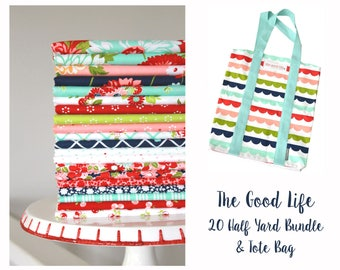 The Good Life by Bonnie & Camille for Moda ~ 20 Half Yard Bundle Includes Tote