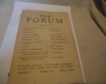 Vintage 1916 The Forum Magazine Volume 55 LV Number 2, collectable