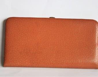 Vintage leather cigarette case . Brown cigarette case. Made in England