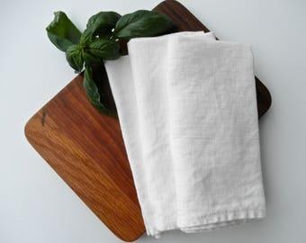 Linen Napkin, Farmhouse Napkin, Organic Table Napkins, Rustic Chic Napkin