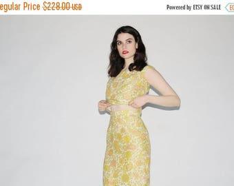 On SALE 35% Off - Vintage 60s Maxi Dress  - 1960s Two Piece Dress - The Subtle Touch Dress - WD0213
