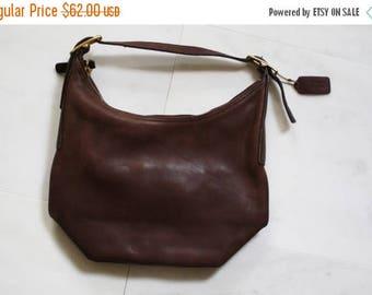 FLASH SALE - Vintage Coach Leather Purse  - Coach Purse  - 1970s Coach Bag - Leather Shoulder Bag -  Brown Leather Bag - WA0049