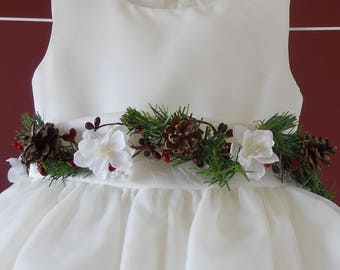 Winter Wedding Dress Sash Belt