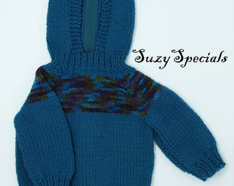 Blue baby sweater   Etsy