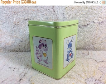SUMMER SALE 1980s Care Bear Cousins Collectible Tin by Carlton Cards