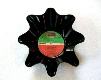Led  Zeppelin Record Bowl Made From Repurposed Vinyl Album - Robert Plant Jimmy Page