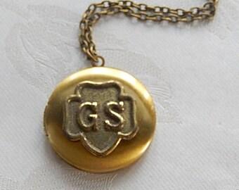 Girl Scout Repurposed Locket, GS Memorabilia, Gift for Her