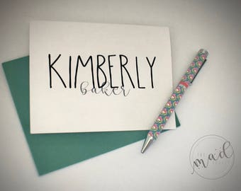 Get Notes Dunn Personalized Note Cards
