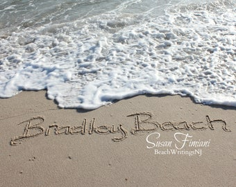 Bradley Beach Sand Beach Writing  Fine Art Photo Jersey Shore