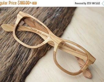 20% off SUMMER SALE Walker2012 Olive Wood Takemoto Handmade Glasses 201410151214 Free Shipping