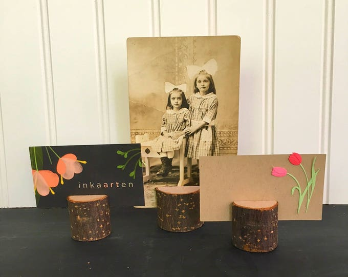 Birch Rustic Photo Card Holder   S/6
