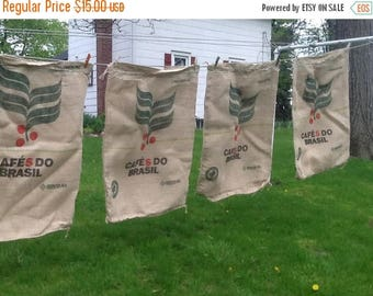 Summer Sale Burlap Sack / Large Burlap Coffee Sack / Burlap Bag / Coffee Bean Sack / Coffee Bean Bag / Brazil