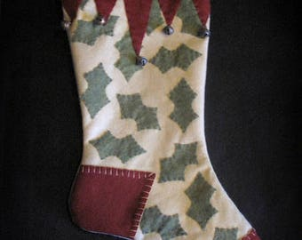 Holly Jolly Christmas - Christmas Past Stocking Collection FINISHED PIECE by cheswickcompany