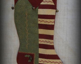 Fireside Glow Stocking - Christmas Past Stocking Collection FINISHED PIECE by cheswickcompany