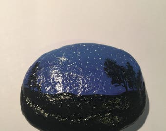 Hand Painted Sea Stone Decoration