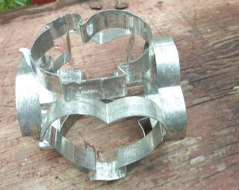 Vintage Adorable 6 Sided Rolling Cookie Pastry Cutter Metal Marked Holland