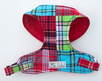 Madras Plaid Comfort Soft Dog Harness - Made to Order -