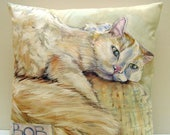 Custom Order for Sharon - Cat Pet Portrait of Bob - Hand Painted 14x14