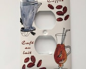 Custom Listing for Rosie - Coffee Themed Outlet Switch Cover